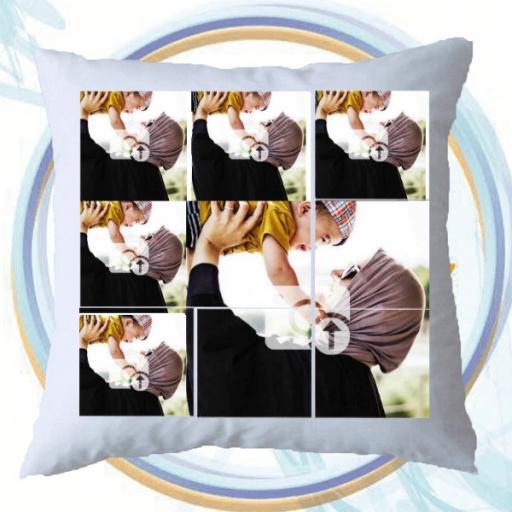 6 Photos Personalised Cushion - Upload Photos