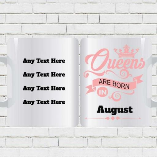 Queens are Born in (Month) - Personalised Birthday Mug