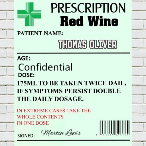 Prescription Wine - Personalised Label
