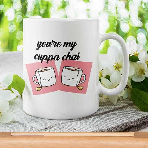 Personalised Funny 'You're My Cuppa Tea' Mug - Add Text