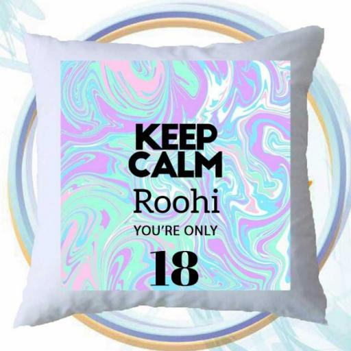 Keep Calm You're Only (AGE) - Personalised Birthday Cushion on Retro Design