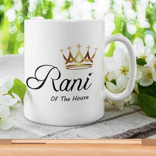 Personalised 'Rani of the House' Mug - Add Name