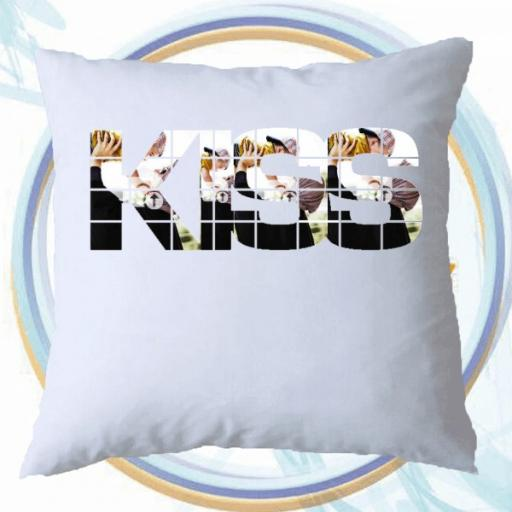 Personalised KISS Photo Collage Cushion - Add Photos & Text