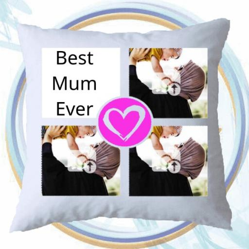 Personalised 3 Photo Cushion - Add Photos & Text