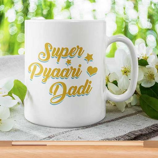 'Super Pyaari Dadi' Personalised Mug for Grandma/Dadi