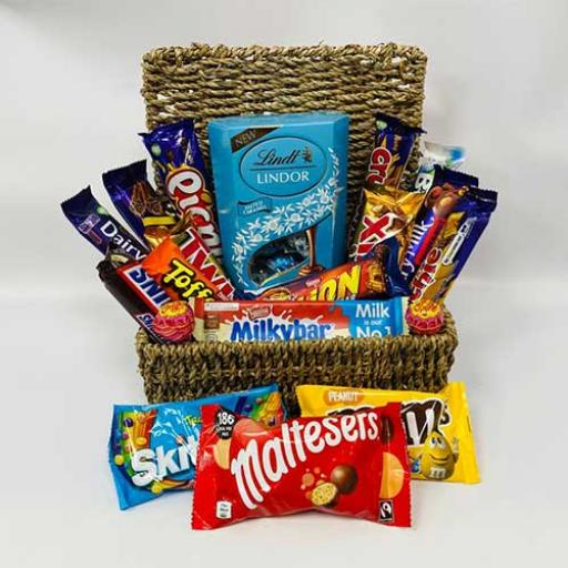 Retro Chocolates Thank You Hamper - with Personalised Card