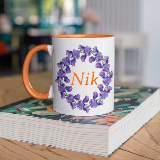 Orange-Colour-inside-Flower-Wreath-Design-Personalised-Mug.jpg