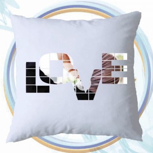 Personalised Photo Cushion - LOVE