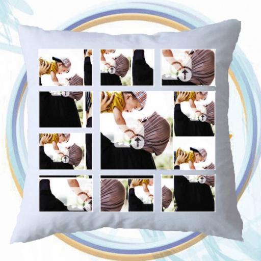 9 Photo Collage Personalised Cushion Gift