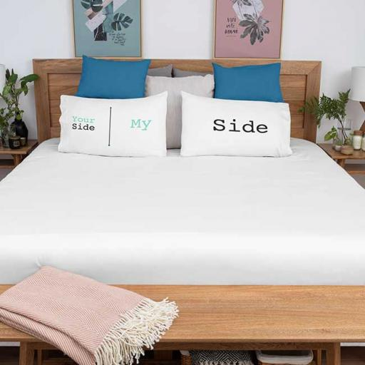 Personalised 'My Side - Your Side' Pillowcases - Couple Gift