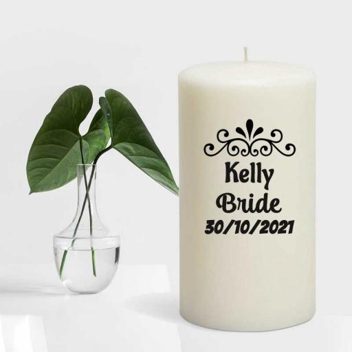 Bridal Candle Line - Personalised BRIDE Candle