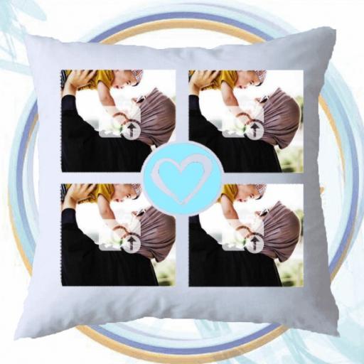 Personalised Multi Photo Cushion - Add Photos & Text