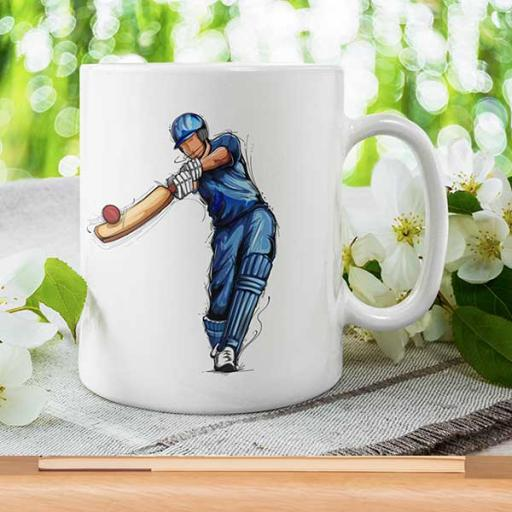Cricket Lover Personalised Mug - Add Text/Name