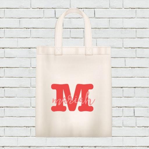 Personalised Calendar Tote Bag - December 2021 - Add Name / Text