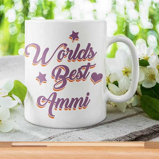 Personalised 'World's Best Ammi' - Gift for Mother