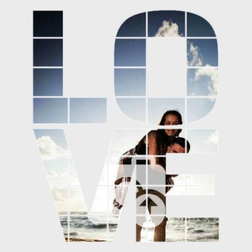 Personalised 'LOVE' Photo Wall Art - Upload Photos