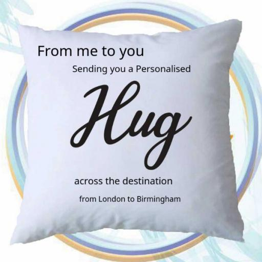 From Me to You - A Personalised Hug Cushion Cover