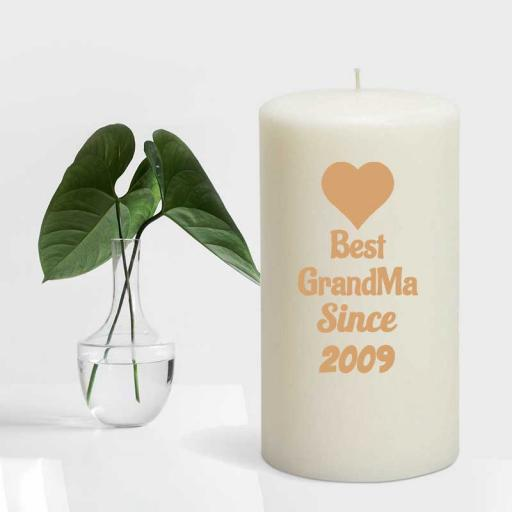Best GrandMa Since YEAR - Personalised Candle Gift