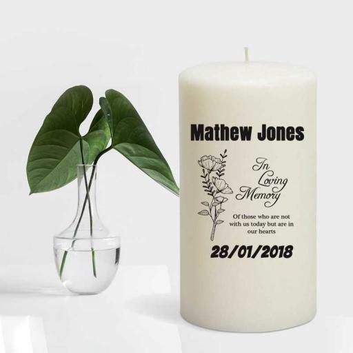 """""""In Loving Memory Of"""" Remembrance Candle - Add Name"""