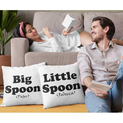 Big Spoon Little Spoon - Personalised Couple Cushion Covers