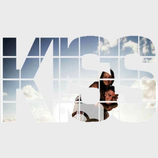 Personalised 'KISS' 4 Photo Wall Art - Upload Photos