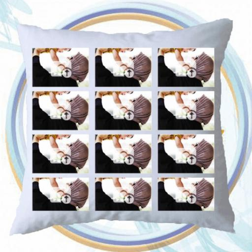 Personalised Multi Photo Collage Cushion - 12 Photos Collage