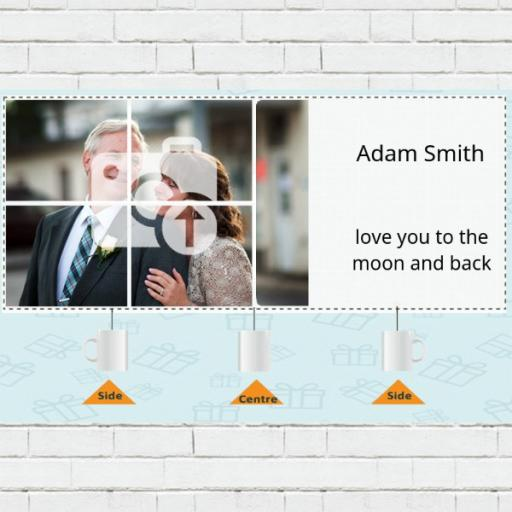 4 Photo Collage Personalised Mug - Add Photos & Text