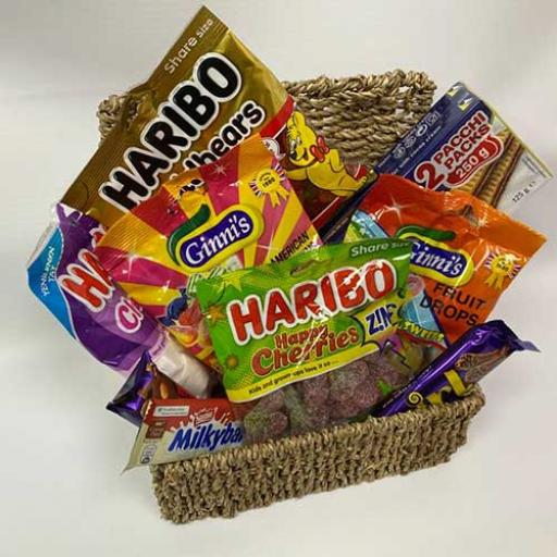Retro Sweets Hamper - with Personalised Card