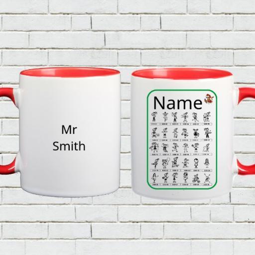 Personalised colour Inside Mug - Add Name