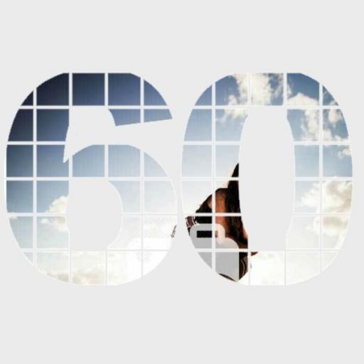 Personalised Photo Wall Art - 60 Years