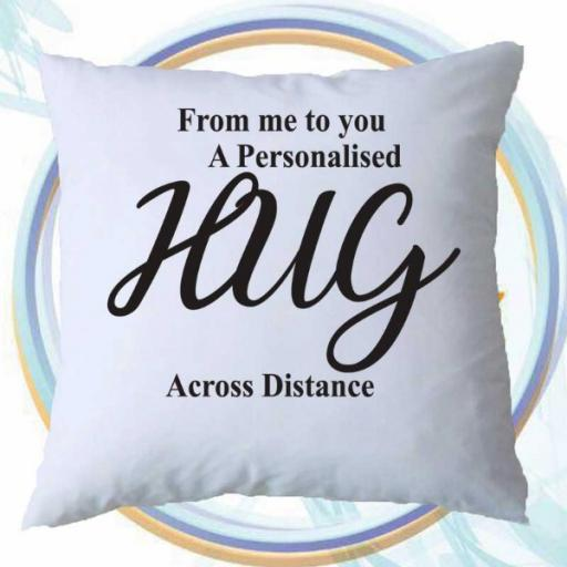 A Personalised Hug From Me to You - Cushion Cover Gift