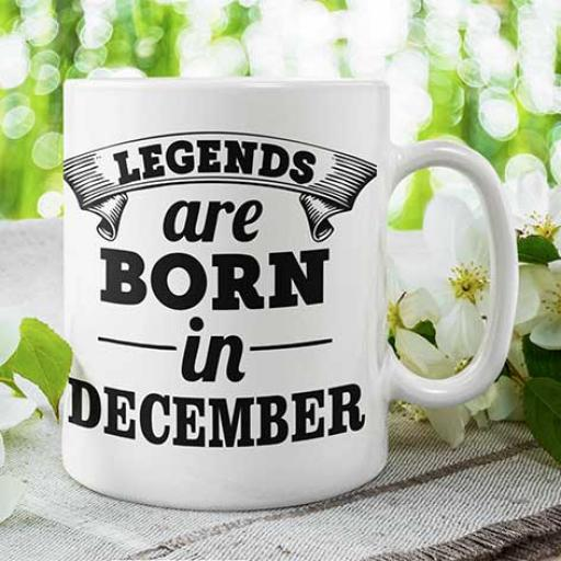 Legends are Born in (MONTH) - Personalised Birthday Mug