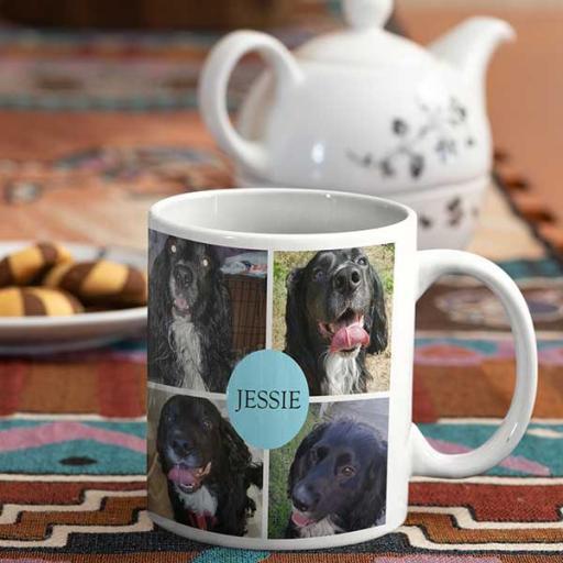 8 Photo Collage Personalised Mug - Add Name