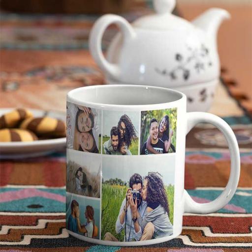 12 Photo Collage Personalised Mug