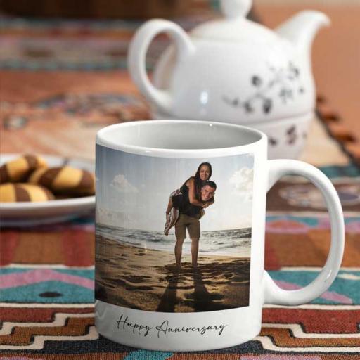 Personalised Mug Gifts 2 Photos Upload and Text