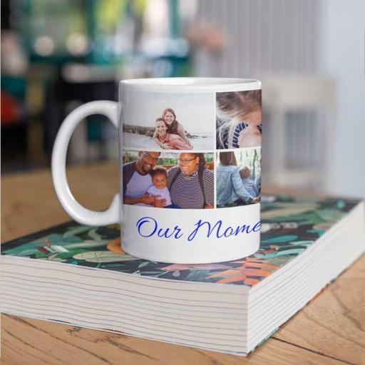 Personalised Photo Collage Mug with Photos & Text