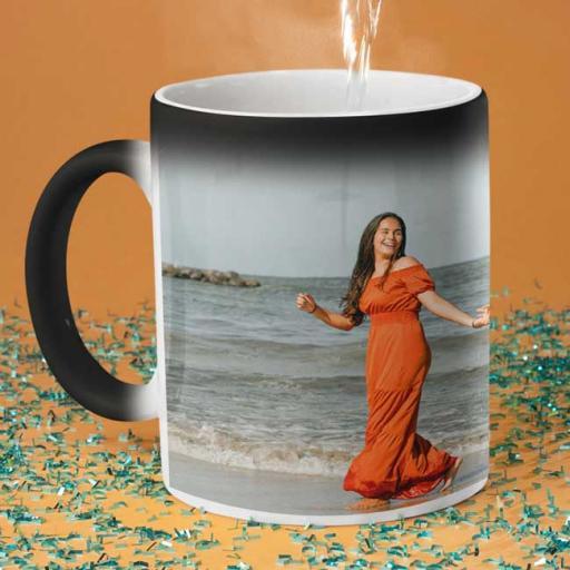 Personalised Photo & Text Magic Mug