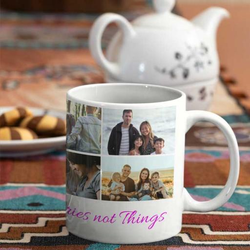 Personalised Memories Photo Collage Mug - Add Photos & Text