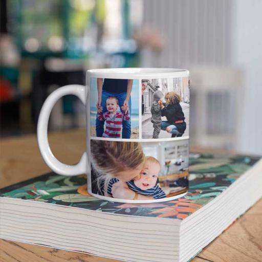 Personalised Family Photo Collage Mug Gift - 4 Photo Collage