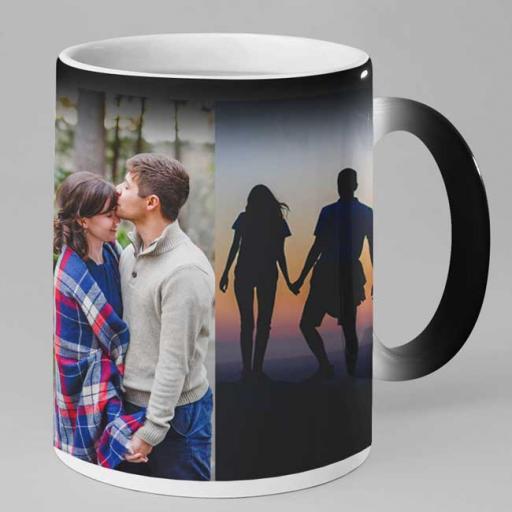 Personalised 4 Photo Magic Heat Mug