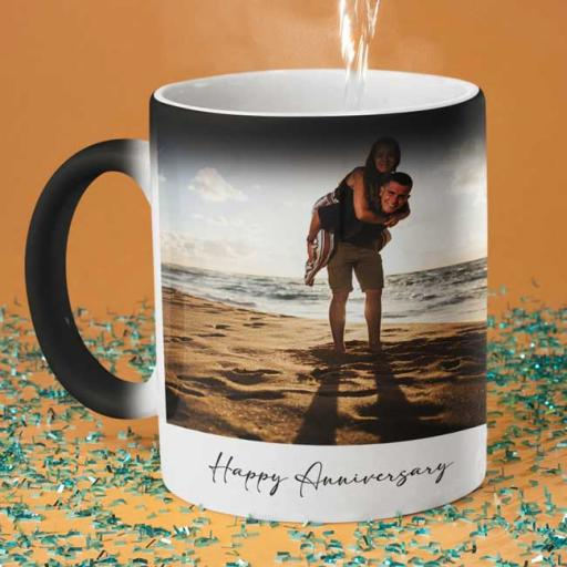 Personalised 2 Photo Magic Mug - Add Pictures & Text