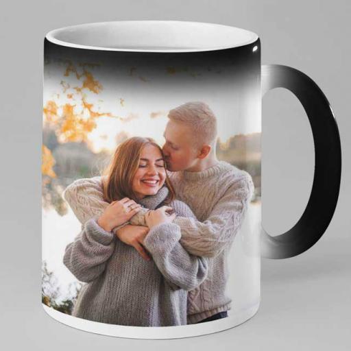 Personalised Magic Heat Mug with Photo & Text