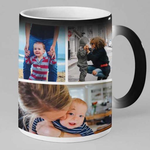 Personalised 4 Photo Collage Magic Mug