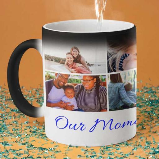 Personalised 6 Photo Magic Mug - Collect Memories Collage