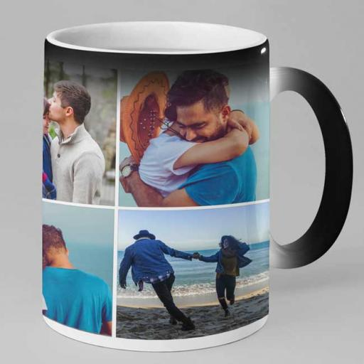Personalised 6 Photo Collage Magic Mug - Upload 6 Memories