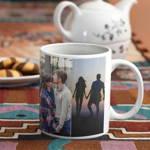 Personalised 4 Photos Upload Mug